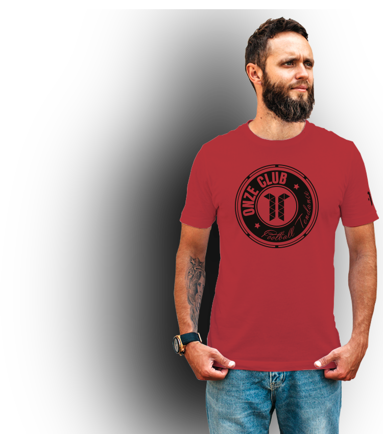 T-shirt BRAND Aficionado Football rouge